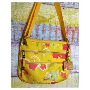 Tyler Rodan yellow floral crossbody bag